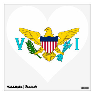 Wall Decals with flag of Virgin Islands, U.S.A.