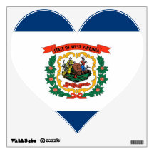 Wall Decals with flag of West Virginia, U.S.A.