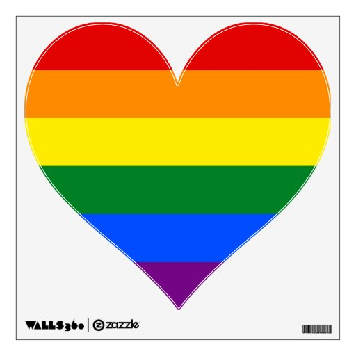 Wall Decals with Rainbow LGBT Pride Flag
