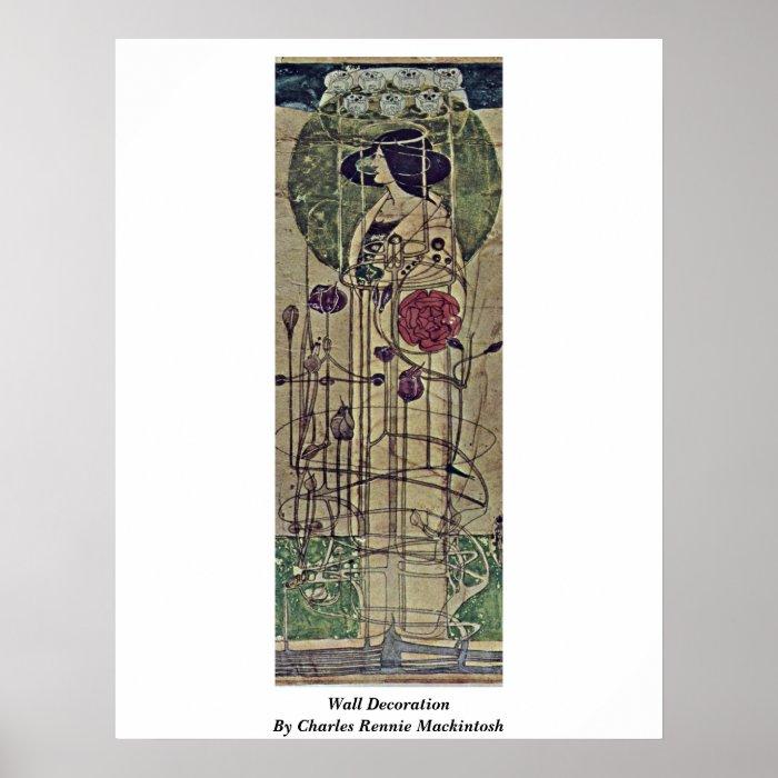 Wall Decoration By Charles Rennie Mackintosh Poster Zazzle