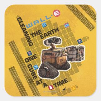 Wall-e 1 calcomania cuadradas