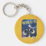 WALL-E 2 BASIC ROUND BUTTON KEYCHAIN