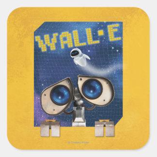 WALL-E 2 PEGATINA CUADRADA
