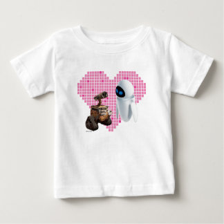 WALL-E and Eve Pixel Heart Baby T-Shirt