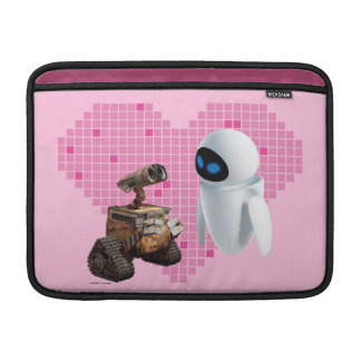 WALL-E and Eve Pixel Heart MacBook Sleeves