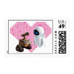 WALL-E and Eve Pixel Heart Stamp