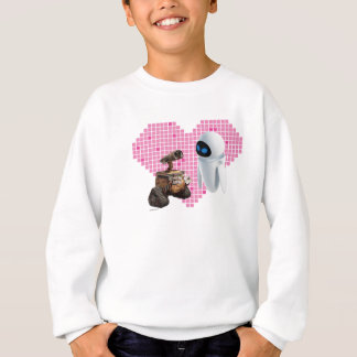 WALL-E and Eve Pixel Heart Sweatshirt