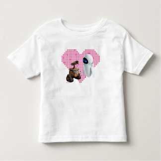 WALL-E and Eve Pixel Heart Toddler T-shirt