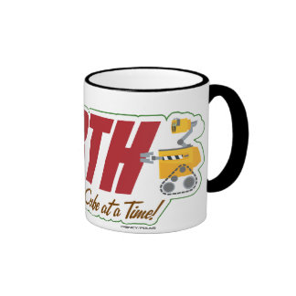 """WALL-E """"cleaning the EARTH one cube at a time"""" Ringer Mug"""
