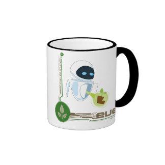 Wall*E con Eve la planta Disney Tazas De Café