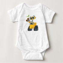 WALL-E robot sad holding plant Baby Bodysuit