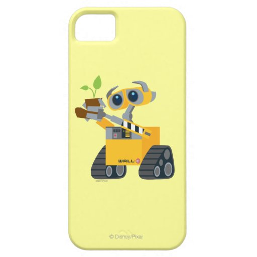 WALL-E robot sad holding plant iPhone 5 Cases