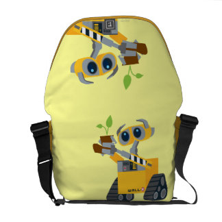 WALL-E robot sad holding plant Messenger Bags