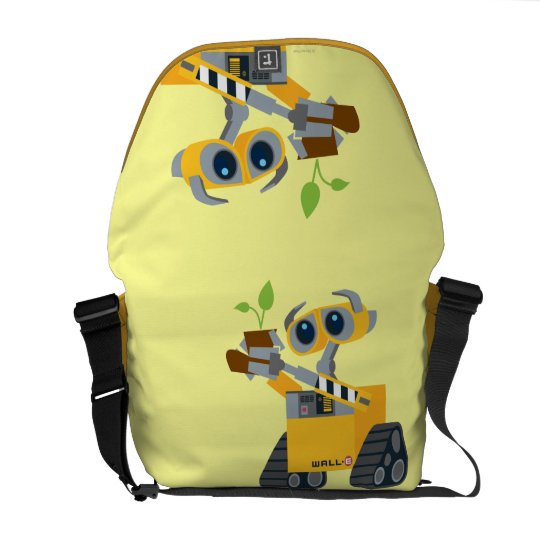 WALL-E robot sad holding plant Messenger Bag