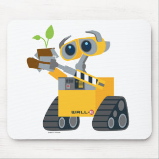 WALL-E robot sad holding plant Mouse Pad