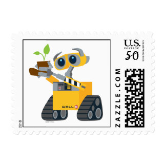 WALL-E robot sad holding plant Postage