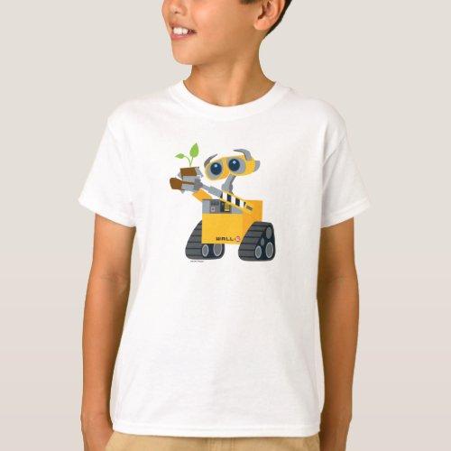 WALL_E robot sad holding plant T_Shirt