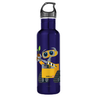WALL-E robot sad holding plant Water Bottle
