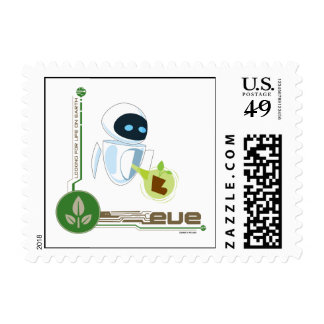 Wall*E with Eve the plant Disney Postage Stamp