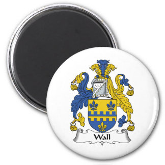 Wall Family Crest 2 Inch Round Magnet