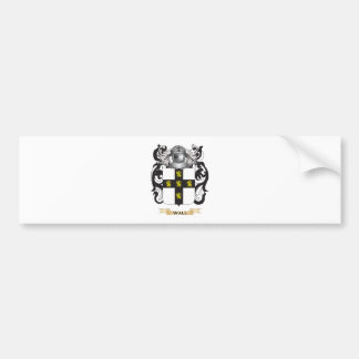 Wall Family Crest (Coat of Arms) Car Bumper Sticker