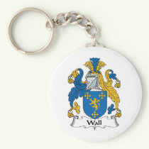 Wall Family Crest Keychain