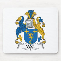 Wall Family Crest Mousepad