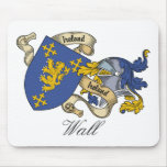 Wall Family Crest Mouse Pad