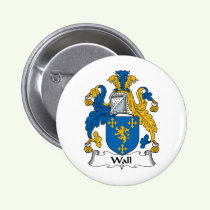 Wall Family Crest Button