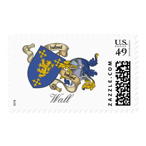 Wall Family Crest Postage