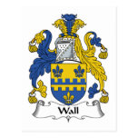 Wall Family Crest Postcards