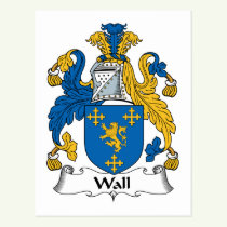 Wall Family Crest Postcard