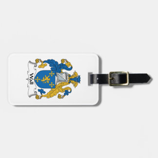 Wall Family Crest Tag For Luggage