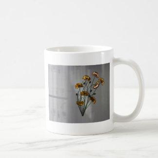 Wall Flower in Gold Coffee Mug
