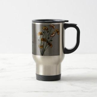 Wall Flower in Gold Travel Mug