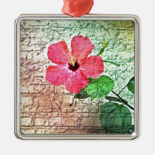 wall flower metal ornament
