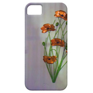 Wall flower with textured colour background iPhone SE/5/5s case