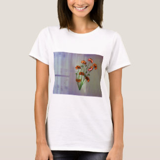 Wall flower with textured colour background T-Shirt