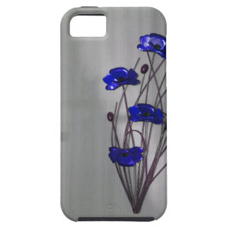 Wall flowers Blue on texture background iPhone SE/5/5s Case