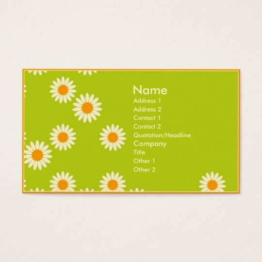 Wall Flowers Business Card