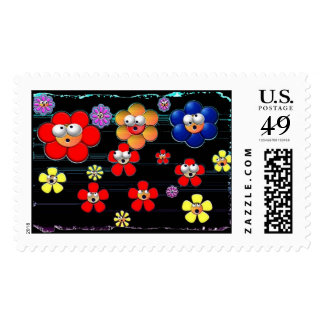 wall flowers postage stamps