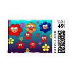 wall flowers postage stamp