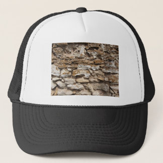 Wall from old stone trucker hat