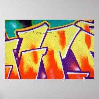 wall graffiti detail poster