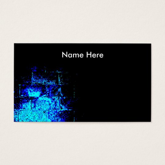 Wall Image in Blue and Black. Digital Art. Business Card
