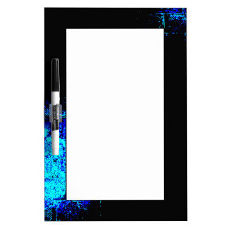 Wall Image in Blue and Black Digital Art Dry-Erase Whiteboards