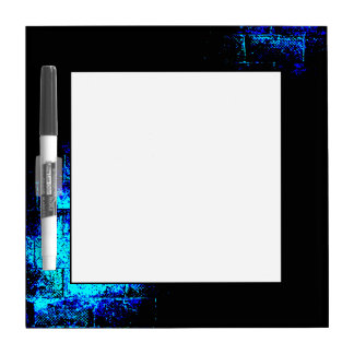 Wall Image in Blue and Black Digital Art Dry-Erase Whiteboard