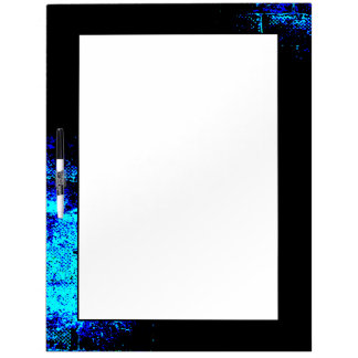 Wall Image in Blue and Black Digital Art Dry Erase Whiteboard