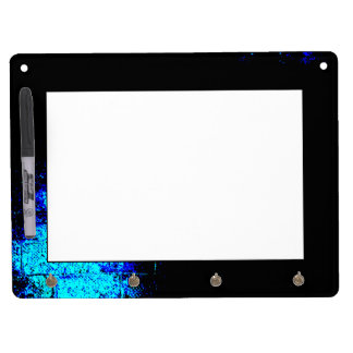 Wall Image in Blue and Black Digital Art Dry-Erase Board
