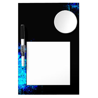 Wall Image in Blue and Black Digital Art Dry Erase Boards